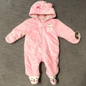 CARTERS baby girls pink bodysuit bear 0-3 month